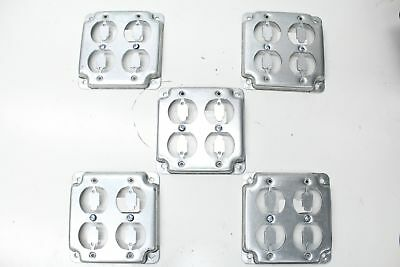 """Thomas & Betts Steel City RS 8 Square Cover 4"""" Lot Of 5"""