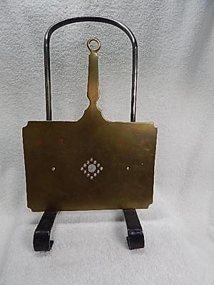 Antique Wrought Iron & Brass Hand Forged Hearth Hanging Trivet Roaster 1800's