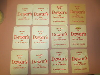 2 X6  DEWAR,S Scotch Whisky 1980,s Issue Spirits collectable COASTERS