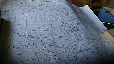 Vintage 1970 Queensland map Chillagoe Gold and Mineral Field Four Mile
