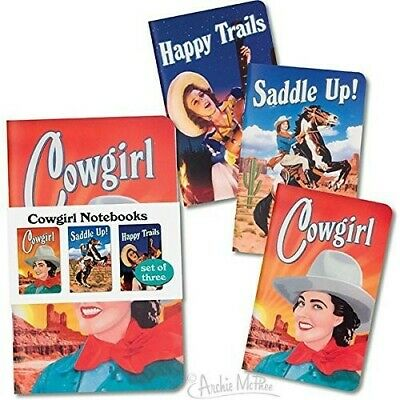 Cowgirl 3pk Notebook Set