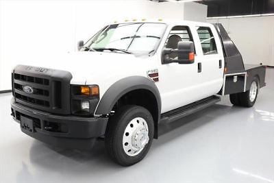 2008 Ford F-550  2008 FORD F-550 CREW  DIESEL DUALLY HAULER/FLAT BED 51K #E29327 Texas Direct
