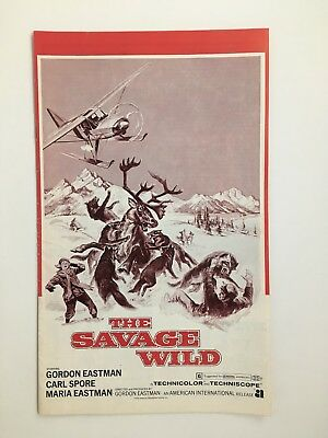 """THE SAVAGE WILD Pressbook 1970 20Pages  9"""" x 14"""" Movie Poster Art 029"""