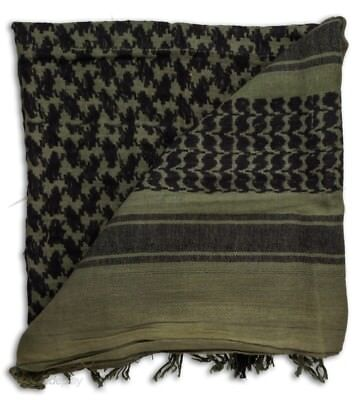 100% coton militaire grade SHEMAGH Foulard Keffieh Sniper voile Olive   Noir 08507d0ab82