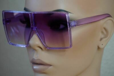 Oversized Exaggerated Flat Top Huge SHIELD Square Sunglasses Colorful Lenses
