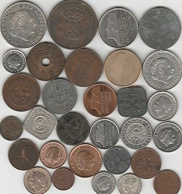 29 different world coins from NETHERLANDS some scarce