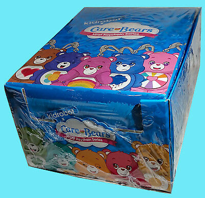 KIDROBOT CARE BEARS VINYL KEYCHAINS Factory SEALED Blind BOX 24 Figures Display