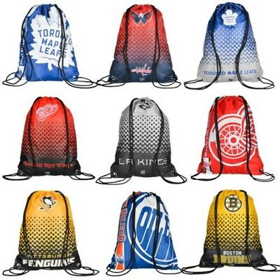 NHL Ice Hockey Drawstring Gym Bag Backpack Sports Bag Penguins Leafs Bruins New