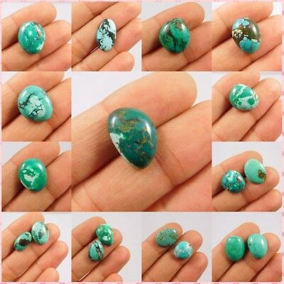 100% Natural Ring Size Tibetan Turquoise Loose Cabochon Gemstone NI700-741