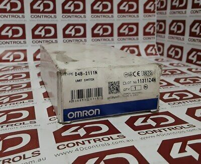 Omron D4B-2111N Limit Switch - New Surplus Open