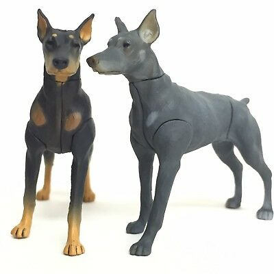 Choco Egg Mini Figure Dog Doberman Black & Blue Merle 2pcs Set Furuta Japan