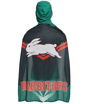 South Sydney Rabbitohs NRL Adults Mape Wrestling Mask Cape Flag!