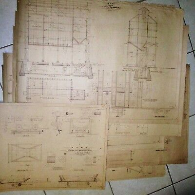 NSWGR Penrith Coal & Ash Handling Plant - Old Copies of 1904 Plans - 7 Sheets