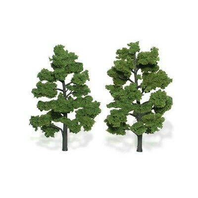 "Woodland Scenics TR1515 Deciduous Trees, Light Green 6""- 7"" (2) Ready-Made"