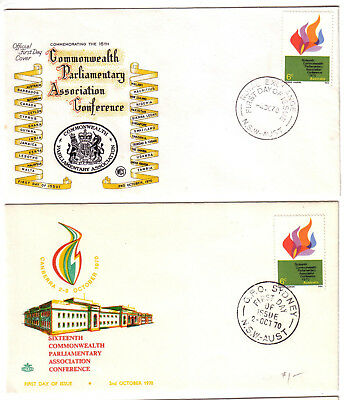 1970 FDC. Commonwealth Parliamentary Association Conference.  WCS & Royal cover.