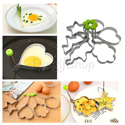 6 PCS Pancake Egg Shaper Mold Mould Ring Cooking Tools Kitchen Stainless Steel