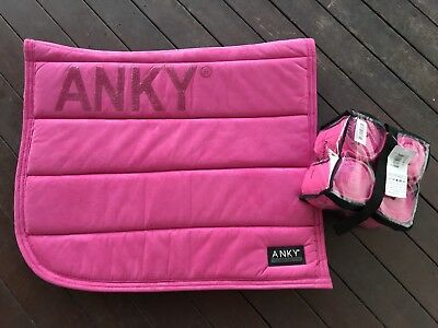 Anky saddle Pad PRETTY PINK Dressage With Bandages NEW