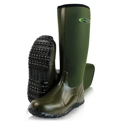 Dirt Boot® Neoprene Wellington Muck Field® Boots Unisex Mens & Womens Green