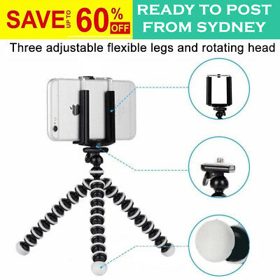 Small Flexible Octopus Tripod Stand | Universal Camera And Phone | 2 In 1 Mount