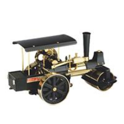Wilesco D396 Steamroller Black And Brass With Radio Control