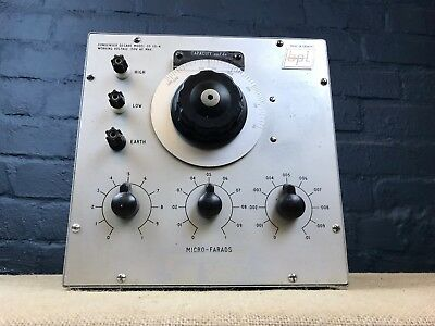 Vintage British Physical Laboratories Condenser Decade Model Cd 131-A