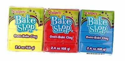 Sculpey Bake Shop 2.4oz Polymer Clay - BUY 8 GET 4 FREE - PUT 12 IN BASKET