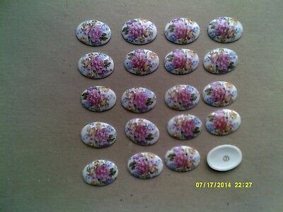Job lot twenty Limoges porcelain brooch centres