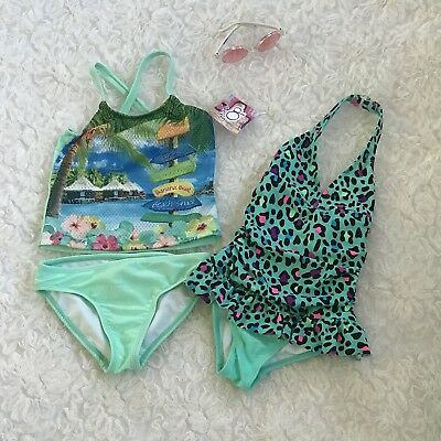 Op Girls Swimwear, Sz 3t, NWT Tankini 2piece + 1 Bathing Suit Toddler Swimsuit
