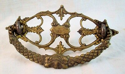 Antique Victorian Brass Furniture Drawer Hardware Handle Pull