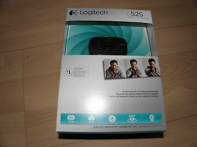 LOGITECH HD WEBCAM C525  - USB 2.0,  8 Megapixel Interpolated 1280 x 720 Video