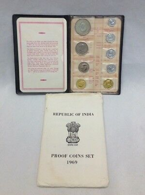 1969 Republic of India Proof Coin Set