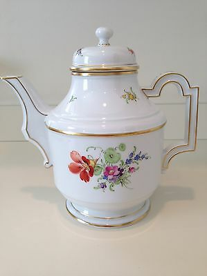 Hochst Floral Teapot Hand-Painted Porcelain Made in Germany New