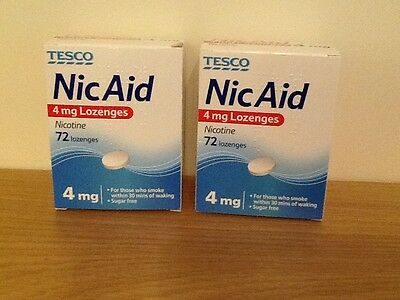 Tesco Nic Aid Nicotine Lozenges 4mg  - 2 x 72 pcs (144 total)