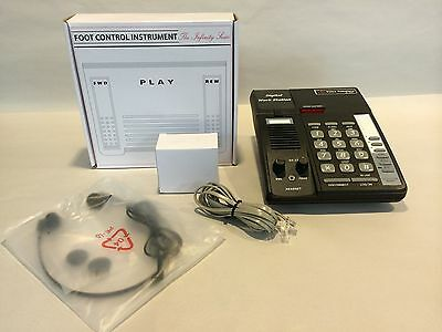 Refurbished DA-128 Telephony Transcribe station, Foot Pedal, PWR Adapt & Headset