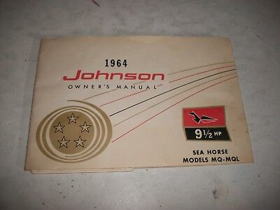 1964 Johnson 9 1/2 Hp Mq-Mql Outboard Owners Manual