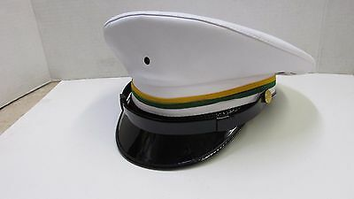 US Army Military Police MP Enlisted Service Dress White Hat Cap Size 7 1/2 NOS