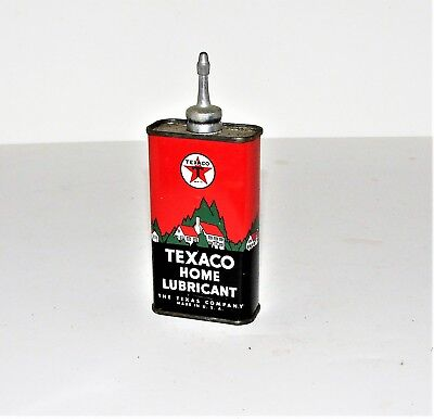 Very Nice Texaco Gas & Oil Home Lubricant Oil Advertising Can