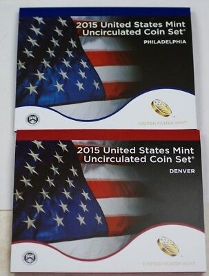 2015 Complete P&D United States Mint Set Sealed in Original Government Packaging