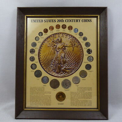 United States 20th Century Coins in Frame