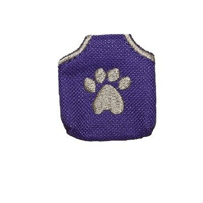 Peace Tag for Dog - Reducing tag noise Fits up to 3 Tags - Paw Purple