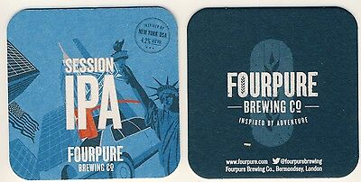 Lot 2  Sous Bock bierdeckel coaster SESSION IPA FOURPURE BREWING C° N.York