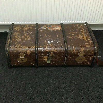 Antique Vintage Original Wooden Chest Suitcase,trunk,restoration,storage