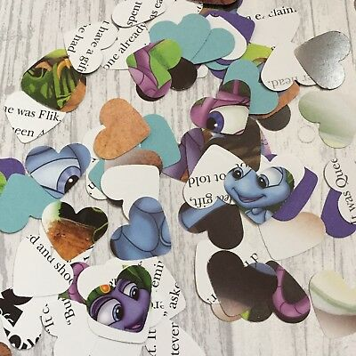 Disney Bugs Life Party  Large Paper Hearts Wedding Confetti Decorations