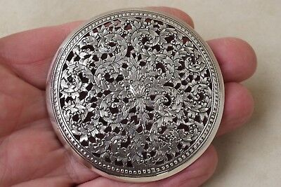 Très grande ancienne broche argent massif large solid silver brooch 21,50 grs