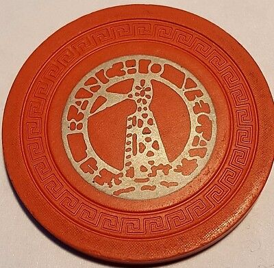 El Rancho $5 Vegas Chip, Very Scarce, 7th edition from the 1940's