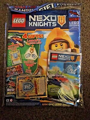 Lego NEXO KNIGHTS Magazine ISSUE 15 MAY 2017 GIFT PACK FREE BEAM JUMP CARD