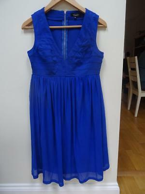 NEW LOOK MATERNITY ladies cobalt blue occasion evening party dress UK 10 EXCELLE