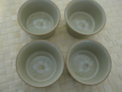 4 Denby Daybreak Small Ramekins Green