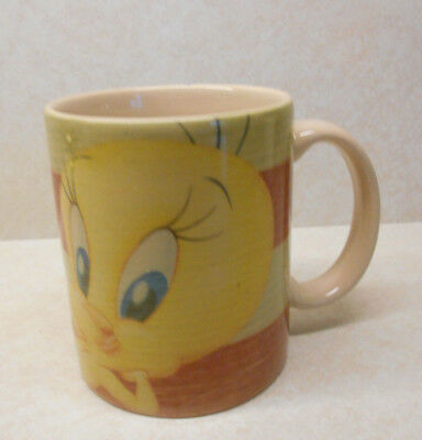 Tweety Bird USA Flag Mug Looney Tunes Porcelain COFFEE MUG