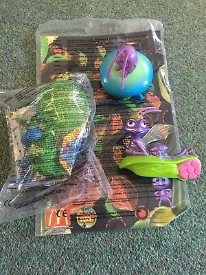 3 X BUG'S LIFE Flik Princess Atta and Dot McDonald's Toys Sealed